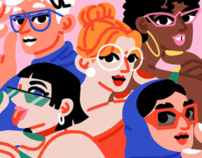 Glasses with personality –Campaign Illustrations