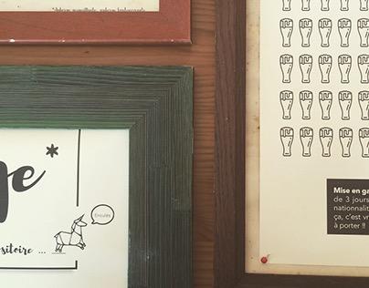 Affiche - Auberge de copains - projet personnel