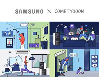 Samsung, IoT Home Solutions Illustrations
