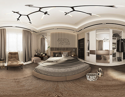 master bedroom design with 360° Panoramic Image