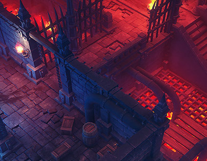 Modular Top-down Dungeons Pack - Low Poly