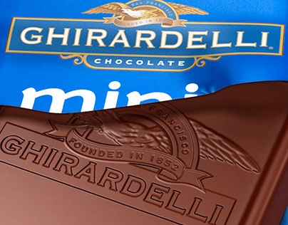 Ghirardelli Minis - 3D Packaging renders