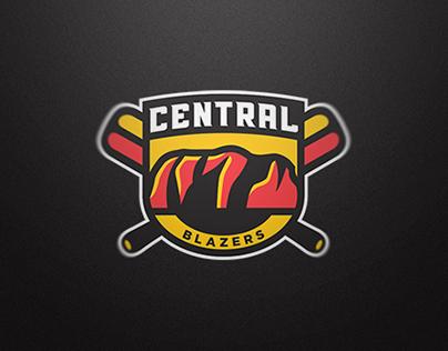 Central Blazers Sports Logo