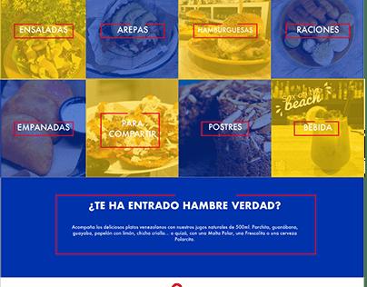 Diseño web Restaurante Venezolano SAUZ