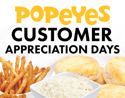 Popeyes Customer Appreciation Days Banner