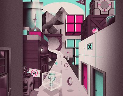 Gamer's World Poster