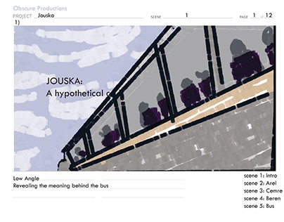 "Storyboard for the Short Movie ""Jouska"""