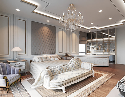 3D Master Bedroom of Private Residence