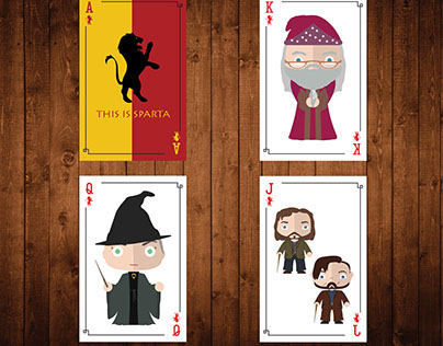 Harry Potter Playing Cards- PRODUCT DESIGN