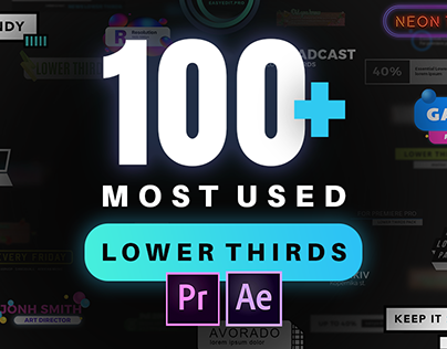 Lower Thirds Pack | After Effects and Premiere Pro