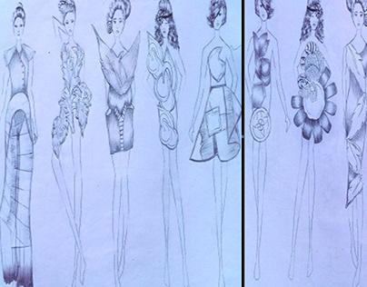 high fashion drawing sketches