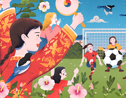 2019 FIFA Women's World Cup Google Doodle - Korea