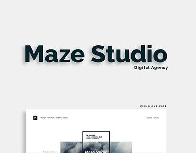 Maze Studio - Digital Agency - One Page