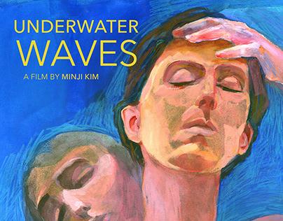Underwater Waves Poster