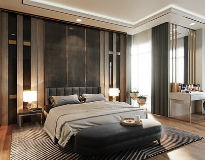 3D - Modern Luxury Master Bedroom