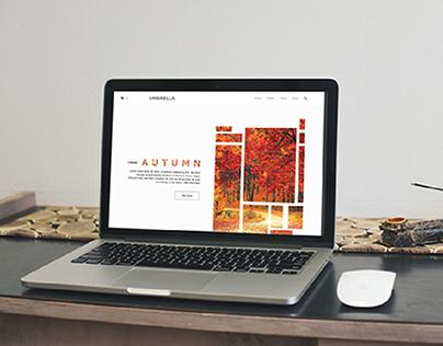 "Website for clothing store ""UMBRELLA"""