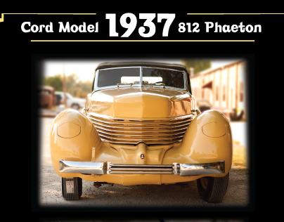 Cord Automobile Auction Poster and website landing page