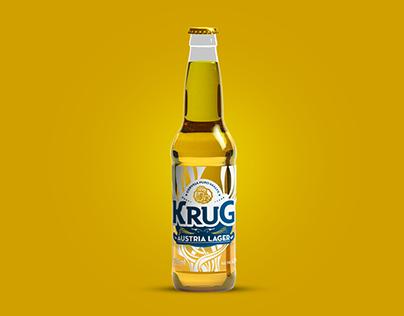 Rótulo Krug Lager Long Neck - Krug Bier