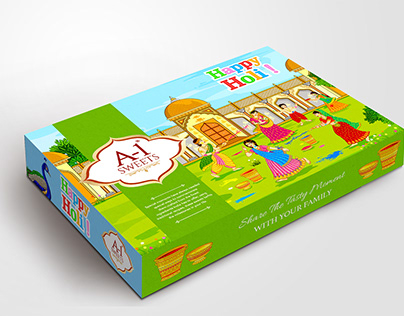 Holi Box Design and packaging Festivals