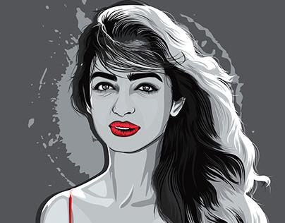 Radhika apte portrait illustration