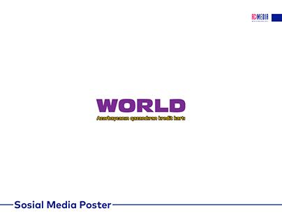 WORLD kart üçün hazırlanmış sosial media posterləri