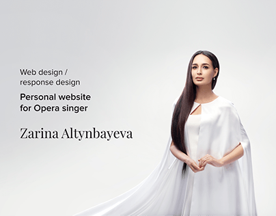 Personal website for Opera singer