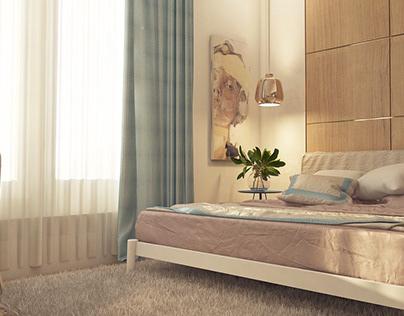 Modern bedroom e.tarek Apartment .