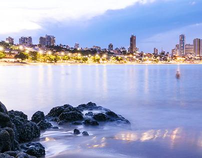Natal Beach by night