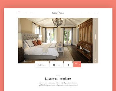 Luxury Hotel web page