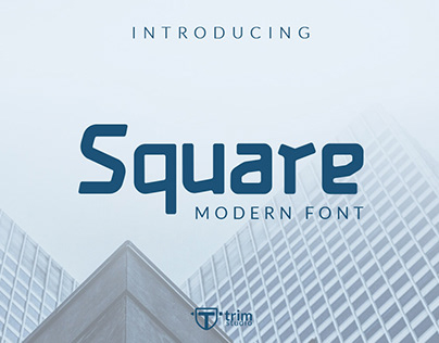 Free Square Display Font