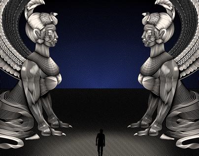 The Neverending Story- Vector Line Illustration