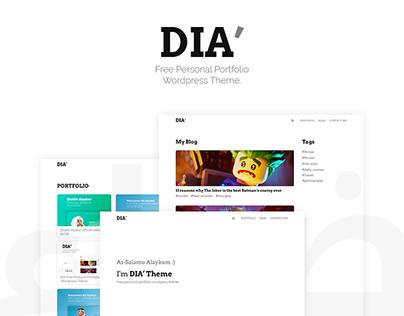 DIA - Free Personal and portfolio wordpress theme