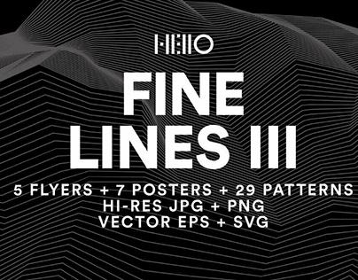 Fine Lines III by Hello Mart
