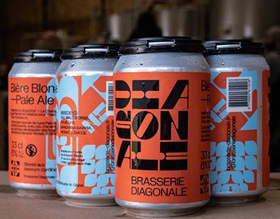 Brasserie Diagonale - Brand identity
