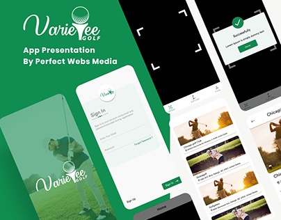Golf Pass Mobile Application UI