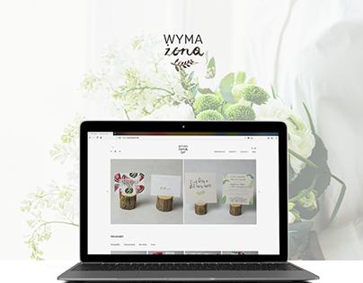Wymażona - responsive website, shop online