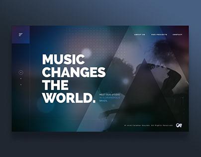Calamar Sounds - One Screen Website Concept