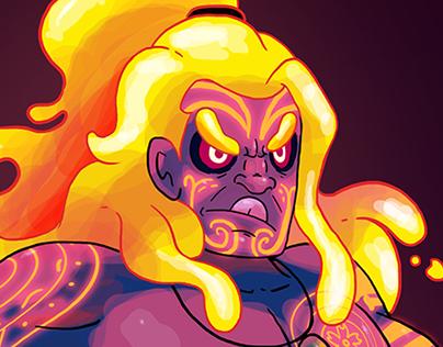 Akahata the volcano warrior