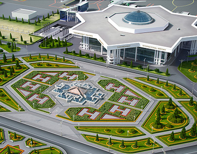 International airport in the city of Turkmenabad - 2017