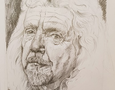 Robert Plant Portrait Illustration