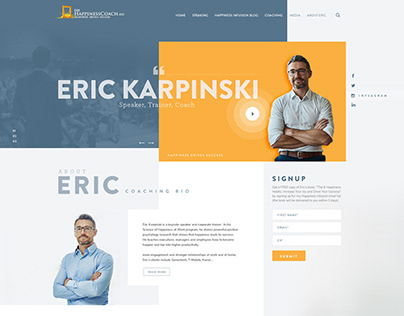 UI/UX | Website Improvement for Motivational Speaker