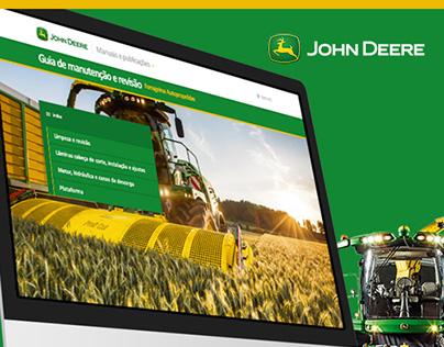 John Deere - Web Product Manual (Proposal)