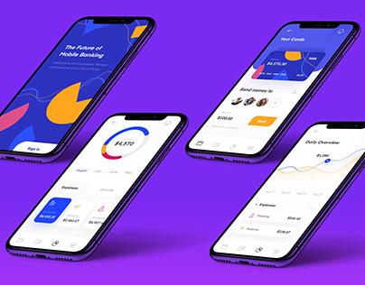 Mobile Banking App Design iPhone