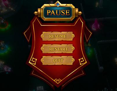 RPG Mobile game UI design