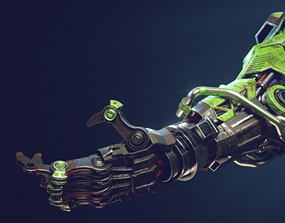 Mech Arm - 3ds max + Redshift3d