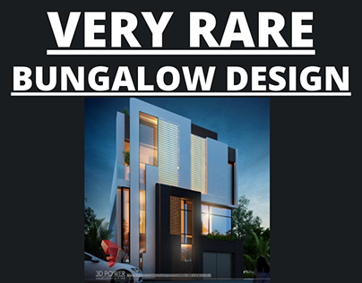 Very rare and extremely beautiful bungalow design 2021