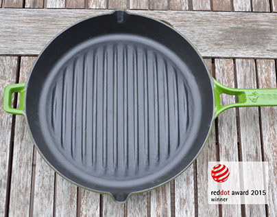 Bombé Cast Iron Grill Pan