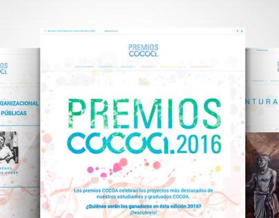 Premios COCOA - USFQ - Diseño gráfico y Web