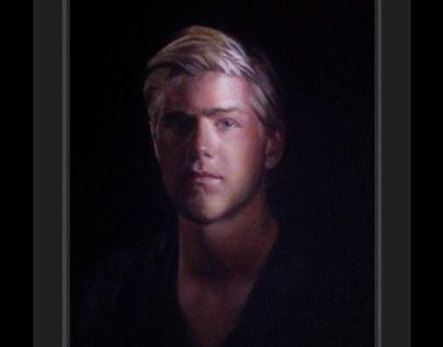 Portrait painting - mick kahmann