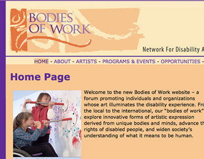 Bodies of Work Service-Learning Project